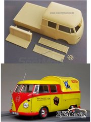 Scale Production: Transkit 1/24 scale - Volkswagen DoKa Bus 1966 - resin parts - for Hasegawa references 21211 and HC-11