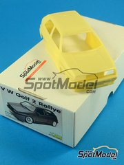 Scale Production: Transkit 1/24 scale - Volkwagen Golf 2 Rallye - for Fujimi kit