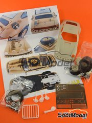 Scale Production: Transkit 1/24 scale - Porsche 911 SC Safari Brandenburg Racing - metal parts, photo-etched parts, resin parts, rubber parts, white metal parts and other materials - for Fujimi references FJ045825, FJ08001, FJ08003, FJ08004, FJ08005, FJ08006, FJ08007, FJ08008, FJ08009, FJ08011, FJ08026, FJ08036, FJ08037, FJ08201, FJ08210, FJ08281, FJ082813 and FJ12407