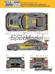 Scaleliveries: Marking / livery 1/24 scale - Mercedes AMG GT3 Driving Academy #48 - Edoardo Mortara (CH) - Macau FIA GT World Cup Championship 2017 - water slide decals, assembly instructions and painting instructions - for Tamiya references TAM24345 and 24345 image