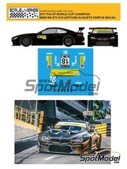 Scaleliveries: Marking / livery 1/24 scale - BMW M6 GT3 BMW Team Schnitzer Art Car #18 - Augusto Farfus (BR) - Macau FIA GT World Cup Championship 2017 - water slide decals and assembly instructions - for Platz reference PN24001