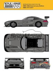 Scaleliveries: Marking / livery 1/24 scale - Mercedes AMG GT3 50th Anniversaty Edition - water slide decals, assembly instructions and painting instructions - for Tamiya references TAM24345 and 24345