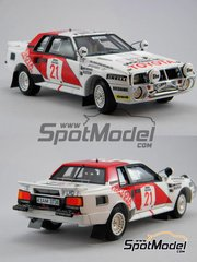 Scuderia Italia.Lab: Model car kit 1/24 scale - Toyota Celica TA64 Group B Duckhams oil #2, 21 - Björn Waldegård (SE) + Fred Gallagher (IE) - Safari Rally 1985 and 1986 - Multimaterial kit image