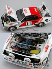 Scuderia Italia.Lab: Model car kit 1/24 scale - Toyota Celica TA64 Group B Correo del munho #11 - Juha Kankkunen (FI) - Portugal Rally 1984 - Multimaterial kit