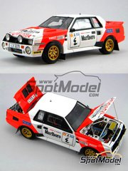 Scuderia Italia.Lab: Model car kit 1/24 scale - Toyota Celica TA64 Group B - Middle est version Marlboro #4 - Multimaterial kit image