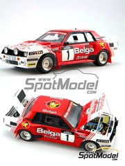 Scuderia Italia.Lab: Model car kit 1/24 scale - Toyota Celica TA64 Group B Belga #1 - Juha Kankkunen (FI) - Haspengow Rally 1985 - Multimaterial kit