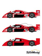 Shunko Models: Marking / livery 1/24 scale - Toyota TS020 GT-One Esso #27, 28, 29 - 24 Hours Le Mans 1998 - water slide decals and assembly instructions - for Tamiya reference TAM24222
