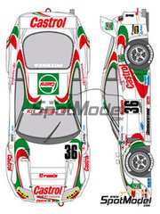 Shunko Models: Marking / livery 1/24 scale - Toyota Supra GT Castrol #36 - Masanori Sekiya (JP) + Michael Krumm (DE) - Japanese Grand Touring Car Championship (JGTC) 1995 - water slide decals and assembly instructions - for Tamiya references TAM24163 and 24163
