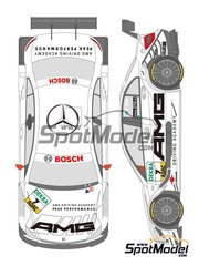 Shunko Models: Marking / livery 1/24 scale - Mercedes Benz C Class AMG #7 - di Resta - DTM 2009 - for Revell references REV07127 and REV07128