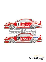 Shunko Models: Marking / livery 1/24 scale - Toyota Tom's Esso Exiv #1, 37 - Masanori Sekiya (JP), Michael Krumm (DE) - Japan Touring Car Championship - JTCC 1995 - water slide decals and assembly instructions - for Tamiya references TAM24155 and 24155 image