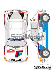 Shunko Models: Decals 1/24 scale - Peugeot 205 Turbo 16 Shell #2, 5 - Ari Vatanen (FI) + Terry Harryman (GB), Timo Salonen (FI) + Seppo Harjanne (FI) - Acropolis rally, Montecarlo Rally 1985 - for Tamiya kit TAM24054