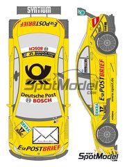 Shunko Models: Marking / livery 1/24 scale - Mercedes Benz C Class Deutsche Post #17 - David Coulthard (GB) - DTM 2011 - for Revell references REV07127 and REV07128
