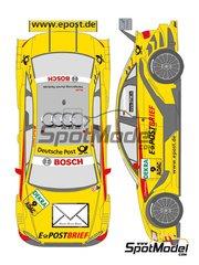 Shunko Models: Marking / livery 1/24 scale - Audi A4 Deutsche Post #9 - Tom Kristensen (DK), Mike Rockenfeller (DE) - DTM 2011 - for Revell kits REV07176 and REV07177