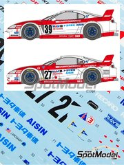 Shunko Models: Marking 1/24 scale - Toyota Supra GT Aisin #39, 27 - Jeff Krosnoff (US), Marco Apicella (IT) + Mauro Martini (IT) + Jeff Krosnoff (US) - 24 Hours Le Mans 1995 - for Tamiya kit TAM24163