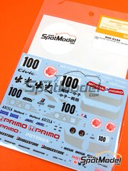 Shunko Models: Marking / livery 1/24 scale - Honda Civic Mugen Primo #100 1992 - water slide decals and assembly instructions - for Hasegawa kit image
