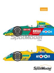 Shunko Models: Marking / livery 1/24 scale - Benetton Ford B190 / B190B Autopolis Camel #19, 20 - Nelson Piquet (BR), Roberto Moreno (BR) - Japanese Formula 1 Grand Prix, USA Formula 1 Grand Prix 1990 - water slide decals and assembly instructions - for Hasegawa references 20340, FS5, FS-5, 23010, CF10, CF-10, 51550, SP50, 23013, CF13 and CF-13