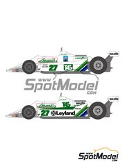Shunko Models: Marking 1/20 scale - Williams Ford FW07 TAG Saudia #27 - Alan Jones (AU), Carlos Reutemann (AR), Clay Regazzoni (CH) - Brazilian Grand Prix, Dutch Grand Prix 1979, 1980 - water slide decals and assembly instructions - for Tamiya kit TAM20014