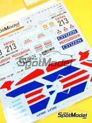 Shunko Models: Marking / livery 1/24 scale - Mitsubishi Pajero Citizen #213 - Kenjiro Shinozuka (JP) + Henri Magne (FR) - Paris Le Cap 1992 - water slide decals and assembly instructions - for Tamiya kit TAM24121