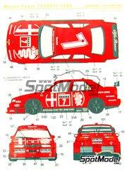 Shunko Models: Marking 1/24 scale - Alfa Romeo 155 V6 TI  Works team #7, 8 - Alessandro Nannini (IT), Nicola Larini (IT) - DTM 1993 - for Tamiya kit