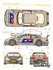 Shunko Models: Marking 1/24 scale - Mercedes Benz CLK D2 #1, 2 - Bernd Schneider (DE), Thomas Jäger (DE) - DTM 2000 - for Tamiya kit