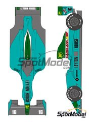 Shunko Models: Marking / livery 1/20 scale - Leyton House Judd CG901 Carglass #15, 16 - Ivan Capelli (IT), Mauricio Gugelmin (BR) - FIA Formula 1 World Championship 1990 - water slide decals and assembly instructions - for Tamiya references TAM20028 and 20028