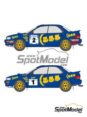Shunko Models: Decals 1/24 scale - Subaru Impreza WRX 555 Repsol #1, 2, 6 - Peter 'Possum' Bourne (NZ) + Tony Sircombe (NZ), Colin McRae (GB) + Derek Ringer (GB), Carlos Sainz (ES) + Luis Moya (ES), Richard Burns (GB) + Robert Reid (GB) - New Zealand rally 1994 - for Hasegawa kit