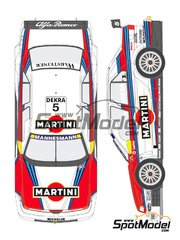 Shunko Models: Marking 1/24 scale - Alfa Romeo 155 V6 TI Martini Racing #5, 6 - Nicola Larini (IT), Alessandro Nannini (IT) - DTM - for Tamiya kit TAM96358