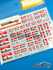 Shunko Models: Decals - Drivers names: Alain Prost, Nigel Mansell, Alboreto, Alesi, Capelli, Morbidelli, Berger Marlboro 1987, 1988, 1989, 1990, 1991 and 1992
