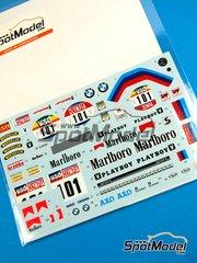 Shunko Models: Decals 1/12 scale - BMW R80G/S + rider Marlboro #101 - Dakar Rally 1985 - for Tamiya kit