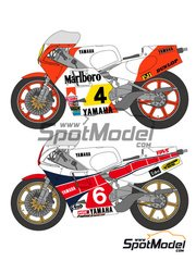 Shunko Models: Decals 1/12 scale - Yamaha YZR500 + Rider Marlboro #4, 6 - Kenny Roberts (US) - World Championship 1983 - for Tamiya kit image