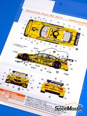 Shunko Models: Marking / livery 1/24 scale - BMW M3 Deutsche Post #22 - Glock - DTM 2013 - for Revell references REV07082 and REV07178