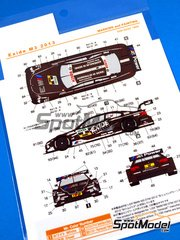 Shunko Models: Marking / livery 1/24 scale - BMW M3 Exide #8 - Joey Hand (US) - DTM 2013 - water slide decals and assembly instructions - for Revell references REV07082 and REV07178