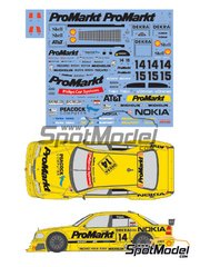 Shunko Models: Marking / livery 1/24 scale - Mercedes Benz AMG C-Class ProMarkt #14, 15 - Kurt Thimm (DK), Jörg van Ommen (DE) - DTM 1994 - water slide decals and assembly instructions - for Tamiya kit TAM24140 image