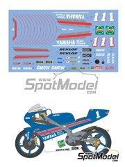 Shunko Models: Marking / livery 1/12 scale - Yamaha TZ250M Castrol #1 - Tetsuya Harada (JP) 1994 - water slide decals and assembly instructions - for Tamiya reference TAM14067 image