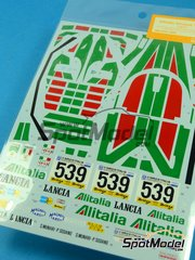 Shunko Models: Marking / livery 1/24 scale - Lancia Stratos Turbo Alitalia #539 - Sandro Munari (IT) + Piero Sodano (IT) - Giro de Italia Rally 1977 - water slide decals and assembly instructions - for Tamiya reference TAM24003 image