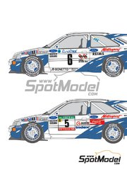 Shunko Models: Decals 1/24 scale - Ford Escort RS Cosworth Group A Mobil1 #2, 5, 6 - Francois Delecour (FR) + Daniel Grataloup (FR), Massimo 'Miki' Biasion (IT) + Tiziano Siviero (IT) - Montecarlo Rally, Portugal Rally 1993 - for Tamiya kit TAM24153 image
