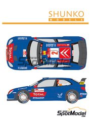 Shunko Models: Marking / livery 1/24 scale - Citroen Xsara WRC Gauloises #1, 2 - Sebastien Loeb (FR) + Daniel Elena (MC), Daniel 'Dani' Sordo (ES) + Marc Martí (ES) - Japan rally 2006 - water slide decals and assembly instructions - for Heller kit 80751