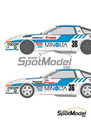 Shunko Models: Marking / livery 1/24 scale - Toyota Supra Turbo Group A Minolta #36, 37 1987 and 1988 - water slide decals and assembly instructions - for Tamiya reference TAM24076 image