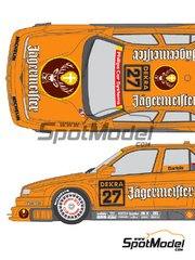 Shunko Models: Marking / livery 1/24 scale - Alfa Romeo 155 V6 TI Jagermeister #27 - Michael Bartels (DE) - DTM 1994 - water slide decals and assembly instructions - for Tamiya references TAM24137, TAM24148 and TAM96356