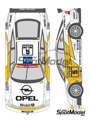 Shunko Models: Marking / livery 1/24 scale - Opel Calibra V6 DTM Team Joest #5, 6 - Manuel Reuter (DE), Keijo Erik 'Keke' Rosberg (FI) - DTM 1994 - water slide decals and assembly instructions - for Tamiya references TAM24149 and 24149 JL