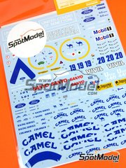 Shunko Models: Marking 1/20 scale - Benetton Ford B192 Camel #19, 20 - Michael Schumacher (DE), Martin Brundle (GB) - World Championship 1992 - water slide decals and assembly instructions - for Tamiya kit TAM20036