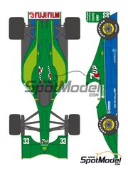 Shunko Models: Marking 1/20 scale - Jordan Ford J191 7Up Fujifilm #32, 33 - Andrea de Cesaris (IT), Bertrand Gachot (LU) - World Championship 1991 - water slide decals and assembly instructions - for Tamiya kit TAM20032