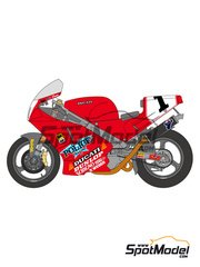 Shunko Models: Marking / livery 1/12 scale - Ducati 888 Police #1, 9 - Doug Polen (US), Giancarlo Falappa (IT) 1992 - water slide decals and assembly instructions - for Tamiya references TAM14063 and 14063