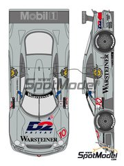 Shunko Models: Marking / livery 1/24 scale - Mercedes CLK-GTR Warsteiner #10 - Alessandro Nannini (IT) + Marcel Tiemann (DE) - DTM 1997 - water slide decals and assembly instructions - for Tamiya kit