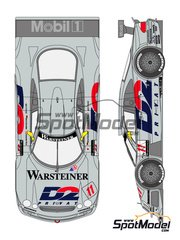 Shunko Models: Marking / livery 1/24 scale - Mercedes CLK-GTR D2 #11 - Aguri Suzuki (JP) + Bernd Schneider (DE) + Alexander Wurz (AT) - DTM 1997 - water slide decals and assembly instructions - for Tamiya kit image