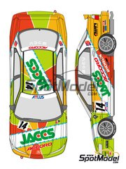 Shunko Models: Marking 1/24 scale - Honda Accord Jaccs #14 - Japan Touring Car Championship 1996 - water slide decals and assembly instructions - for Tamiya kit TAM24180