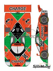 Shunko Models: Marking / livery 1/24 scale - Mazda 767B Charge #202 - 24 Hours Le Mans 1989 - water slide decals and assembly instructions - for Hasegawa references 20312 and CC-18