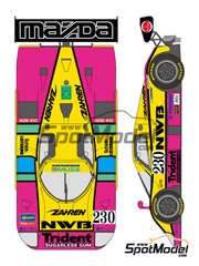 Shunko Models: Marking 1/24 scale - Mazda 767B NWB #230 - 24 Hours Le Mans 1991 - water slide decals and assembly instructions - for Hasegawa kit SP60