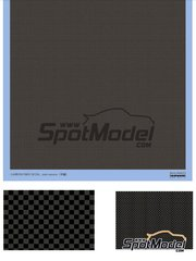 Shunko Models: Decals - Carbon fiber plain weave  - water slide decals