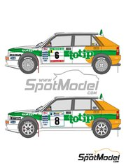 Shunko Models: Marking / livery 1/24 scale - Lancia Super Delta Totip #6, 8 - Andrea Aghini (IT) - Acropolis rally, Portugal Rally 1993 - water slide decals and assembly instructions - for Hasegawa references 25015, CR-15, 25076 and CR-116